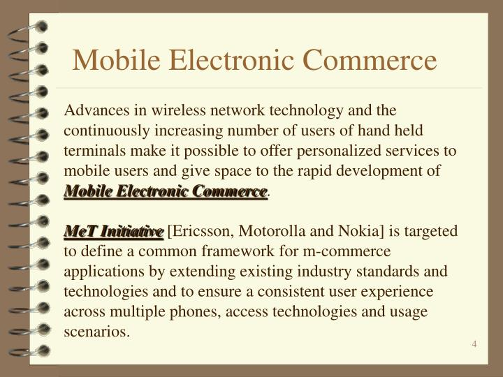 Mobile Electronic Commerce