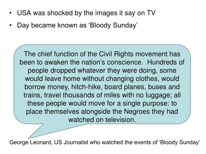 USA was shocked by the images it say on TV