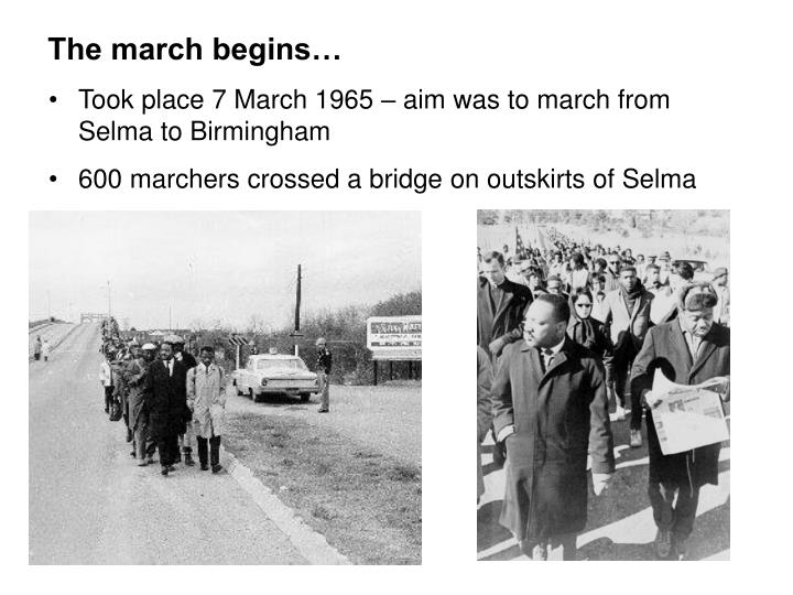 The march begins…
