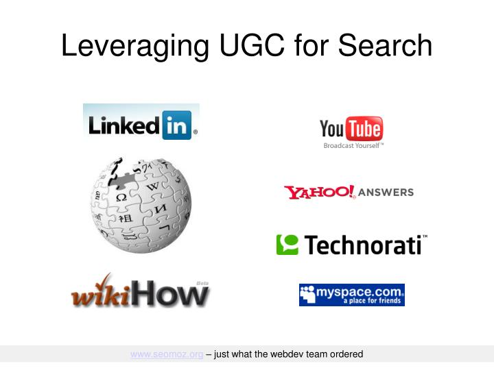 Leveraging UGC for Search