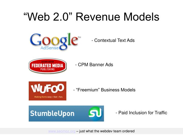 """""""Web 2.0"""" Revenue Models"""