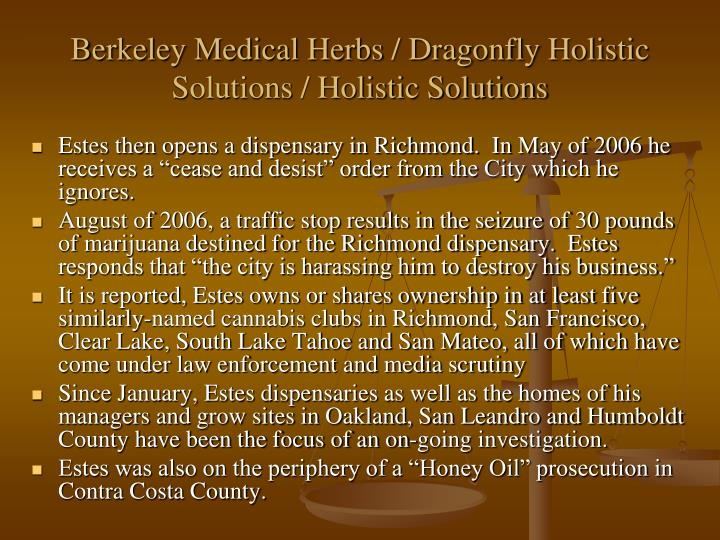 Berkeley Medical Herbs / Dragonfly Holistic Solutions / Holistic Solutions