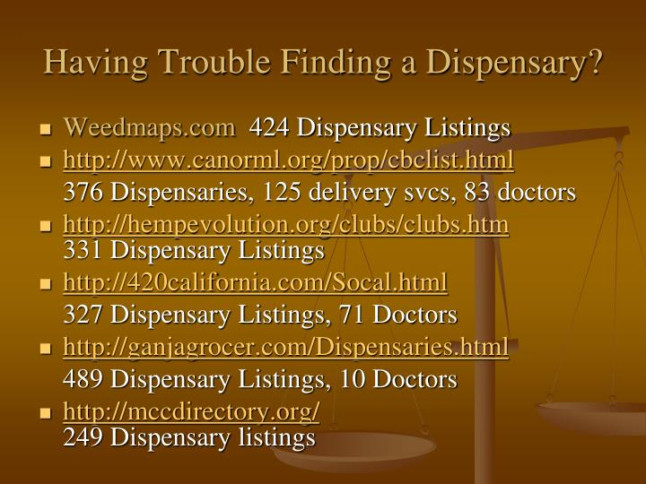 Having Trouble Finding a Dispensary?