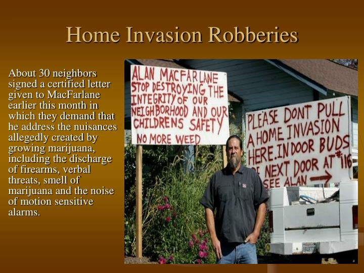Home Invasion Robberies