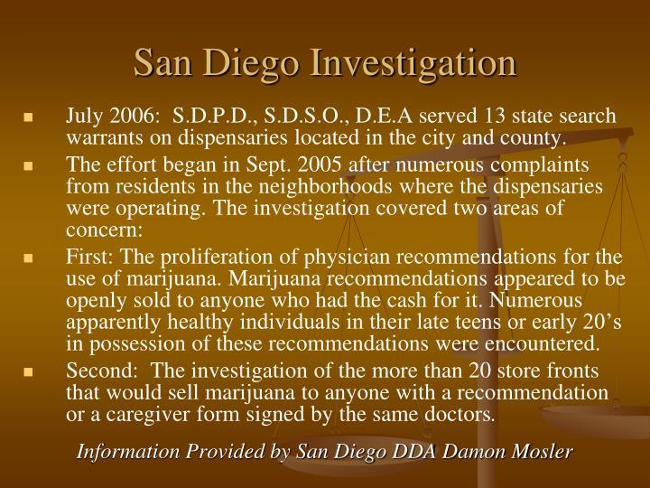 San Diego Investigation