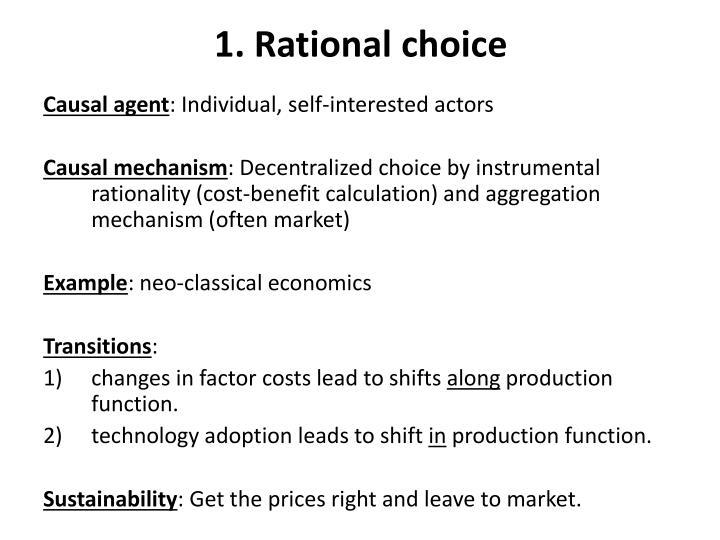 1. Rational choice