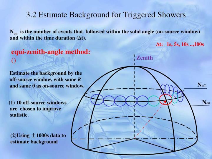 3.2 Estimate Background for