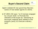 buyer s second claim