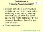 definition of a housing accommodation
