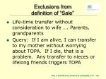 exclusions from definition of sale