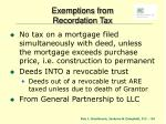 exemptions from recordation tax1