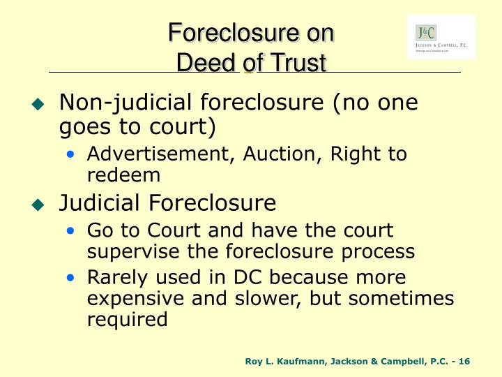 Foreclosure on