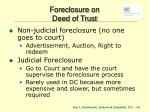 foreclosure on deed of trust