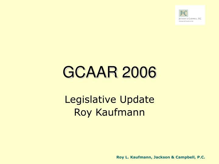 GCAAR 2006