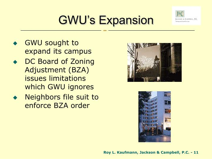 GWU's Expansion