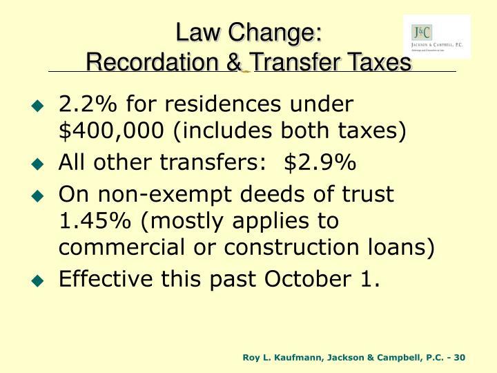Law Change: