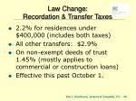 law change recordation transfer taxes