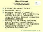 new office of tenant advocate