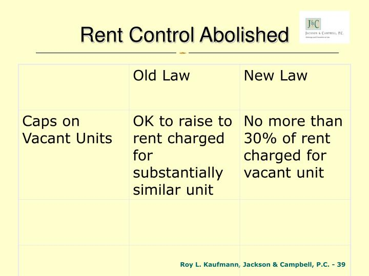 Rent Control Abolished