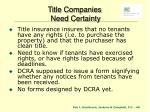 title companies need certainty