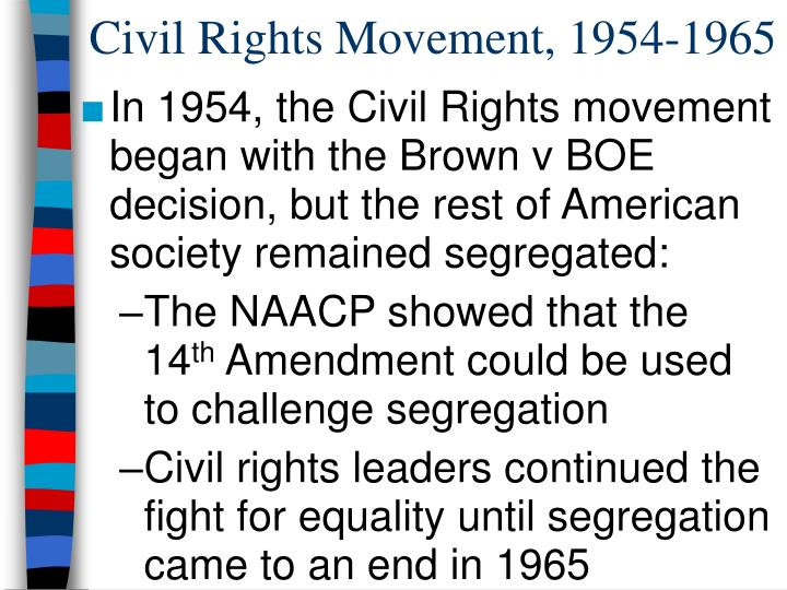 Civil rights movement 1954 1965