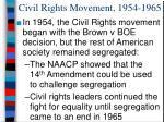civil rights movement 1954 1965