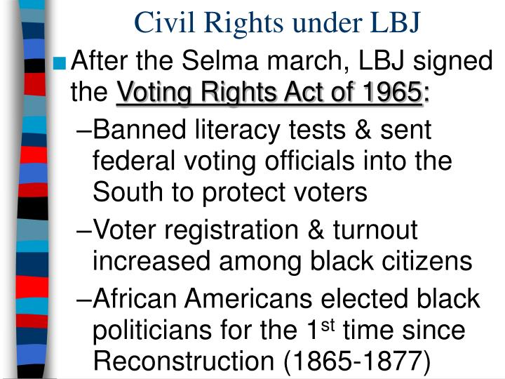 Civil Rights under LBJ