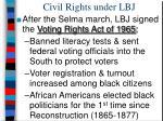 civil rights under lbj
