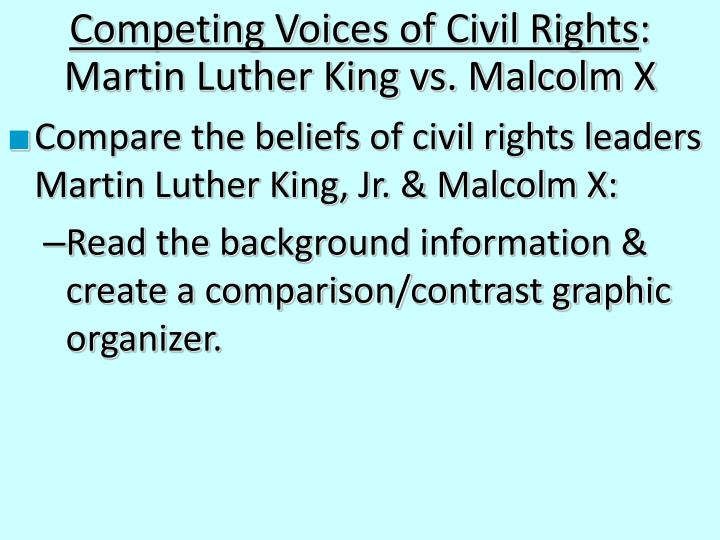 Competing Voices of Civil Rights