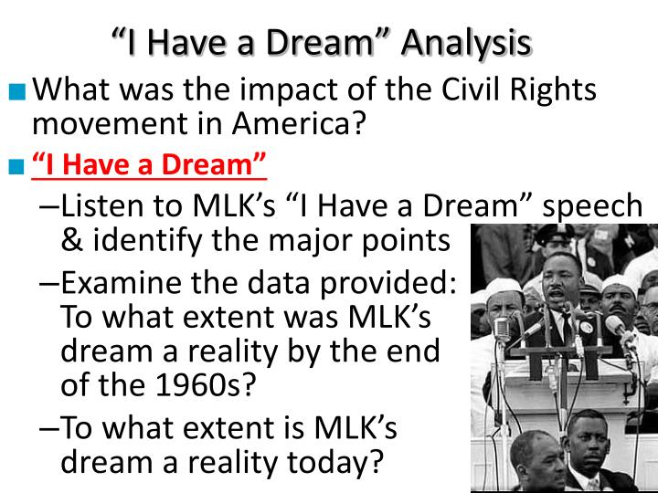 """I Have a Dream"" Analysis"