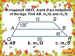 in trapezoid qrst a and b are midpoints of the legs find ab m q and m s
