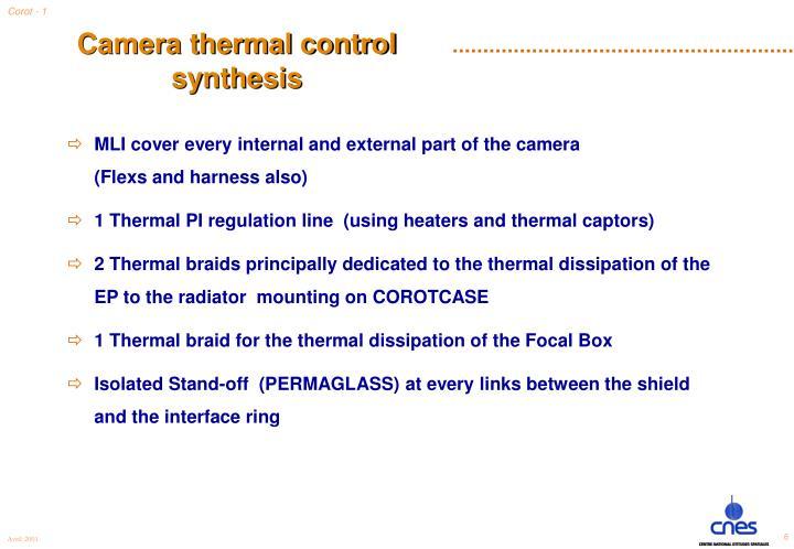 Camera thermal control