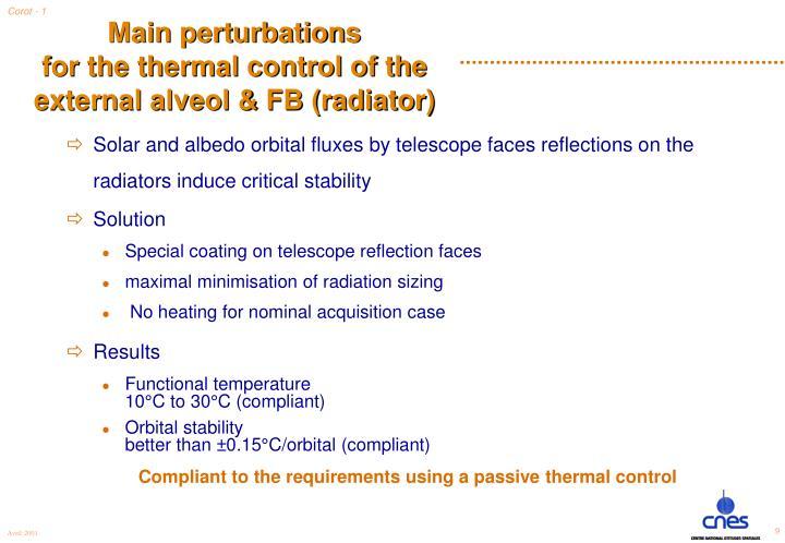 Main perturbations