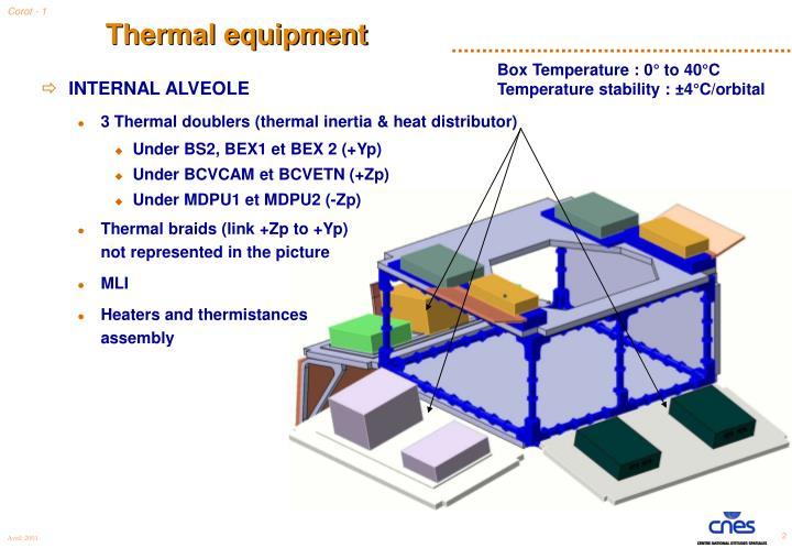 Thermal equipment