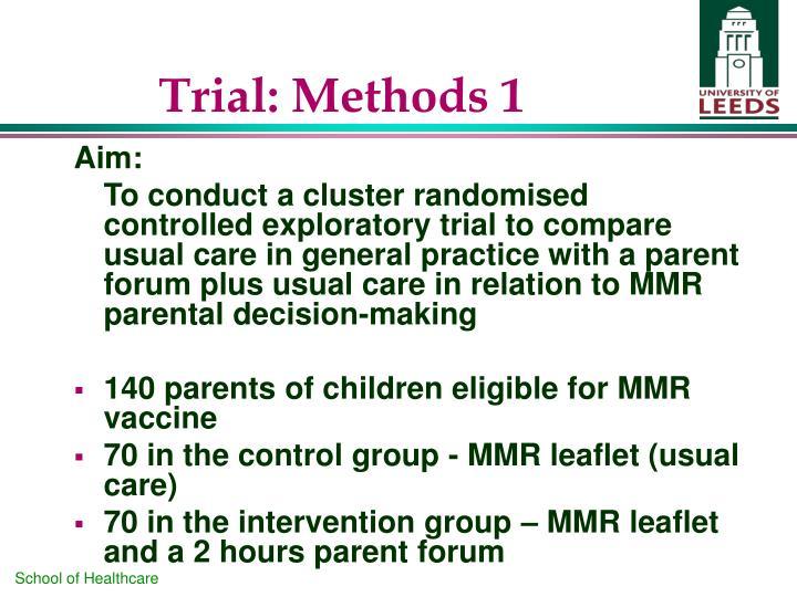Trial: Methods 1