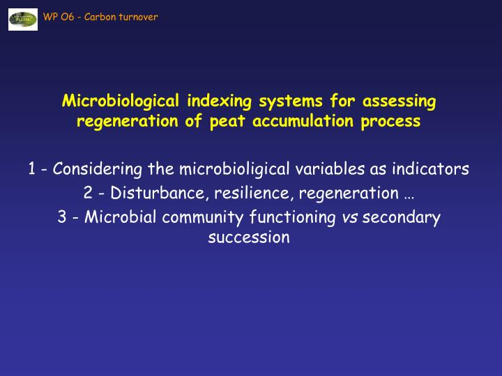 Microbiological indexing systems for assessing regeneration of peat accumulation process