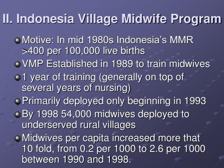 II. Indonesia Village Midwife Program