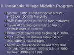 ii indonesia village midwife program