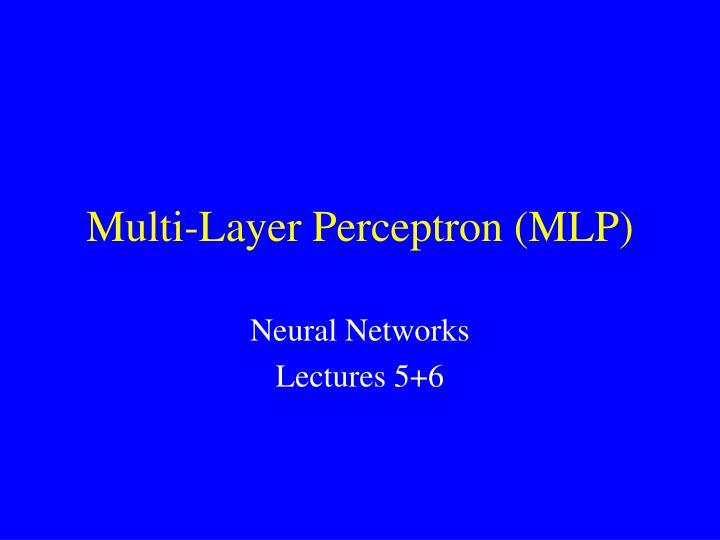 multi layer perceptron mlp