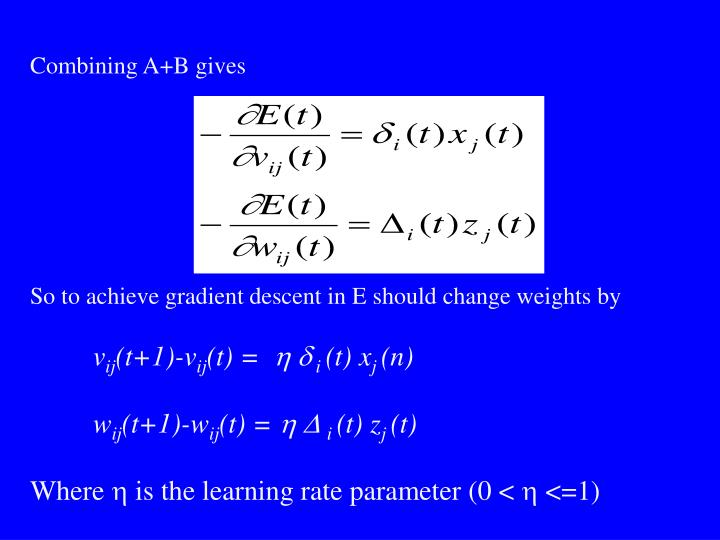 Combining A+B gives
