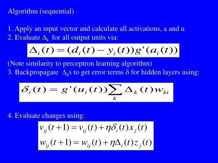 Algorithm (sequential)