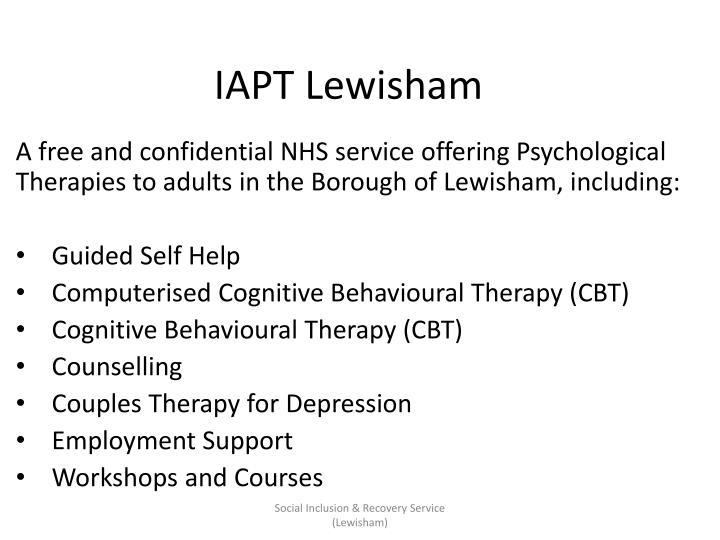 IAPT Lewisham