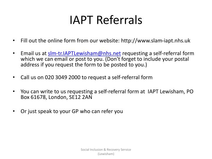 IAPT Referrals