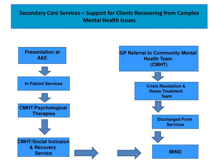 Secondary Care Services – Support for Clients Recovering from Complex Mental Health Issues