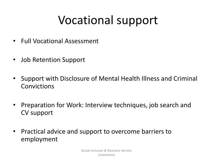 Vocational support