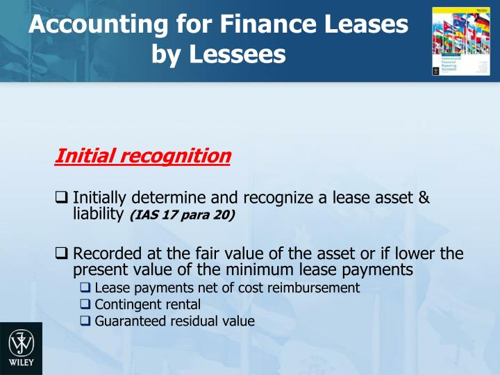 Accounting for Finance Leases by Lessees