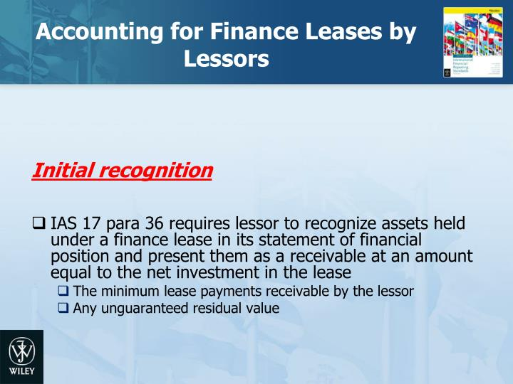 Accounting for Finance Leases by Lessors