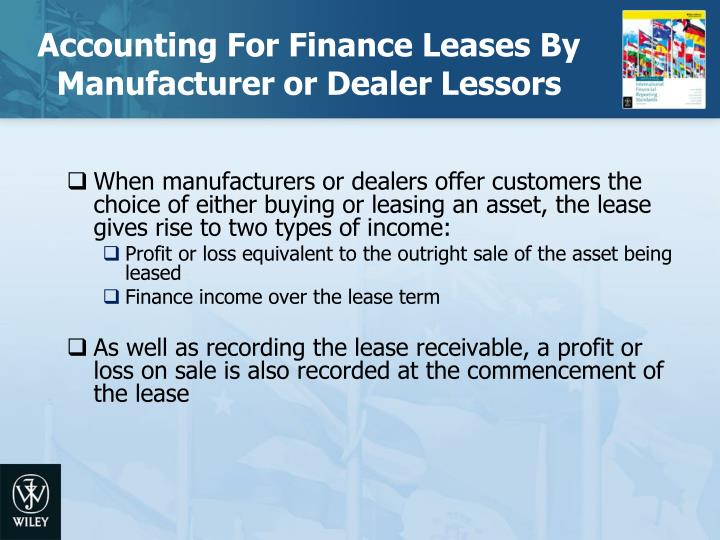 Accounting For Finance Leases By Manufacturer or Dealer Lessors