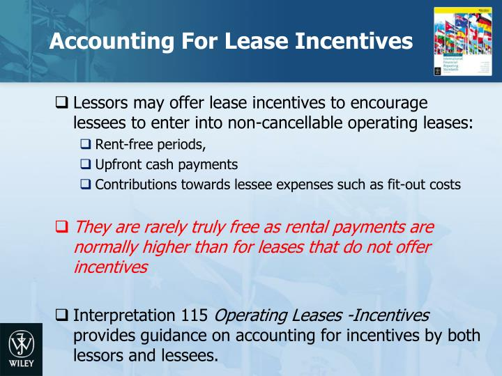 Accounting For Lease Incentives