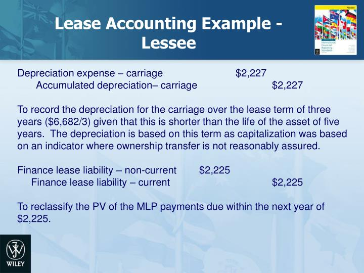 Lease Accounting Example - Lessee